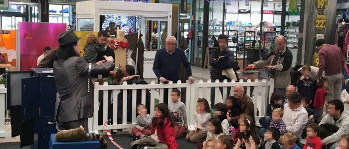 Fiestas infantiles en centro comercial con mago